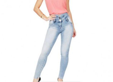 fed568e76 Calça Jeans Feminina Cintura Alta Entre no nosso site e veja nosso catalogo  completo