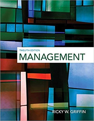 Test Bank For Management 12th Edition By Ricky W Griffin
