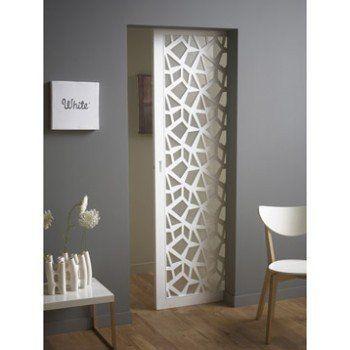 Ensemble Porte Coulissante Crash Verre Et Mdf Laque Galandage Eclisse Aluminiu Fmboard Home Decor Room Partition Designs Doors Interior