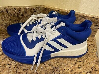 New Adidas Marquee Boost Mens Basketball Size 10 Blue In 2020 Blue And White Style Mens Basketball New Adidas