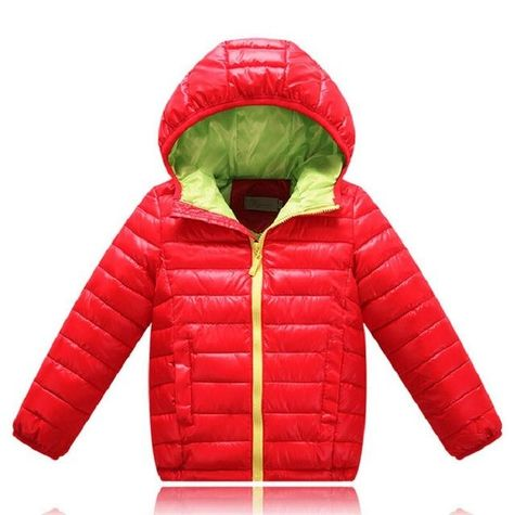 344fc8ce4134 Sale 3-10Yrs Baby Girls Jacket Fashion coat Children clothes down ...