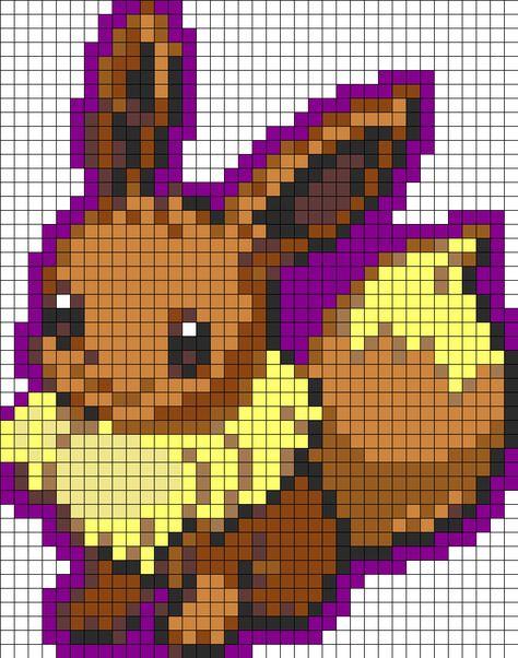 Perler Beads Patterns All Pokemon   Eevee Normal Pokemon Perler Bead Pattern / Bead Sprite