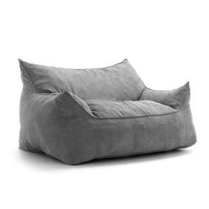 Big Joe Imperial Fufton Shredded Ahhsome Foam Cement Comfort Suede Plus Bean Bag 0552380 The Home Depot Bean Bag Sofa Bean Bag Chair Large Bean Bag Sofa
