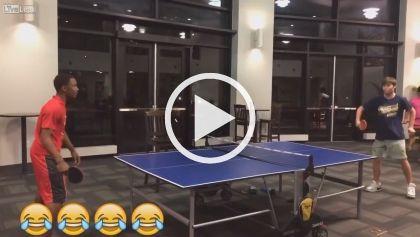 ăn Mừng Siêu đau đớn Hài Hước Funniest Lol Bóng Bàn Clip Vui Video Table Tennis Tennis Match Relaxing Gif