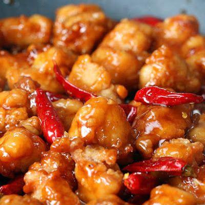 General Tso's Chicken or Shrimp @keyingredient #chicken #shrimp