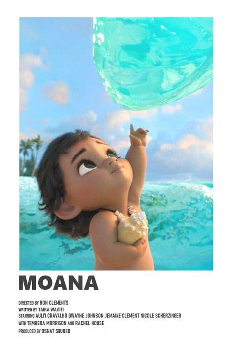 Moana minimal A6 movie poster