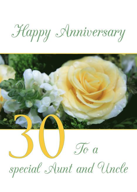 Aunt Uncle 30th Wedding Anniversary Yellow Rose Card Ad Sponsored Wedding Au 8th Wedding Anniversary Wedding Anniversary Cards 60 Wedding Anniversary