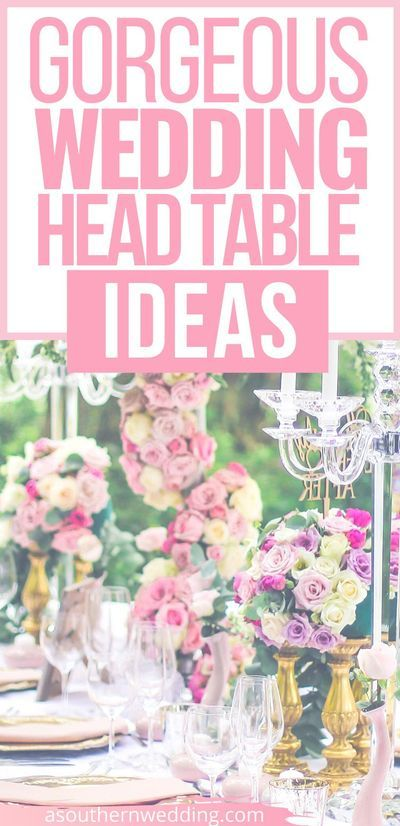 These are the most gorgeous wedding head table ideas for any bridal style and special day! From greenery covered arbors, sequin table runners, and rustic arches, you're bound to find some head table inspiration you love. #headtableideas #weddingheadtable #sweethearttable #sweethearttableideas #weddingtableideas #headtableinspiration #cuteheadtableideas #brideandgroomtable #weddingtable #headtabledecorations