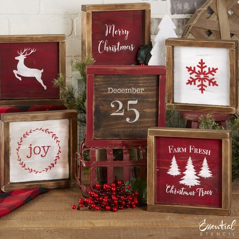 Christmas Mini Sign Stencils (6 Pack)
