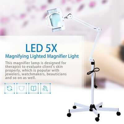 5x Lighted Magnifier Light Stand Magnifier Led Lamp Beauty Magnifying Usa In 2020 Magnifier Lamp Lamp Light Magnifier