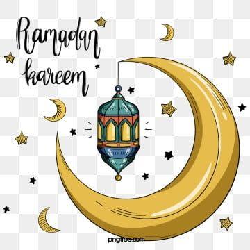 Ramadan With Golden Moon In 2020 Ramadan Kareem Vector Ramadan Ramadan Kareem
