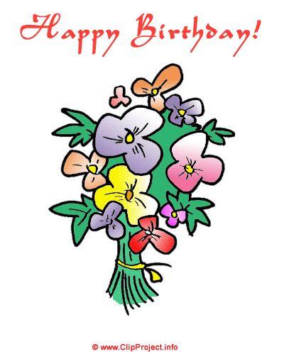 Geburtstag Clipart Kostenlos Herunterladen Blumenstrauss Zum