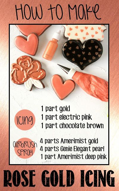 Color formulas for making rose gold colored icing and ...