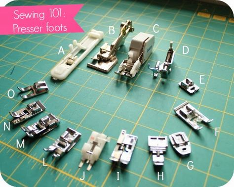 Sewing 101: Know your presser foot - House of Pinheiro  I need this
