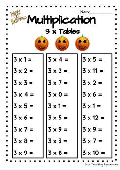 A Quick Activity Sheet For Practicing The 3 Times Tables Great For Student Printable Teaching Resources Kindergarten Math Worksheets Free Free Math Worksheets Times table worksheet year 3