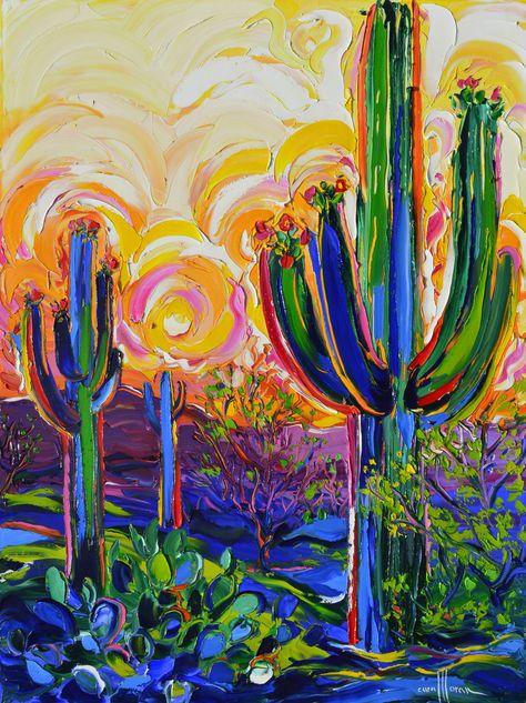 Desert – Cara Pabst Moran Art Inspo, Kunst Inspo, Painting Inspiration, Cactus Painting, Cactus Art, Acrylic Painting Flowers, Acrylic Painting Canvas, Cactus Plants, Hippie Kunst