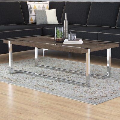 Wade Logan Aubuchon Coffee Table In 2020 Coffee Table Rectangle