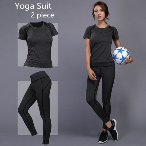 420f0d1b843 Best Seller 2018 Women Yoga Set Gym Fitness Clothes Tennis ShirtPants  Running Tight Jogging Workout Yoga Leggings Sport Suit plus size  shirt   tshirt