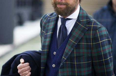 Street Style, checked jacket