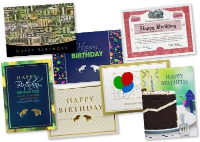 Greeting Card Variety Pack for your financial clients – Packs of Birthday Cards