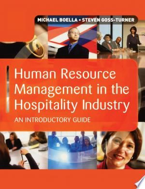 Human Resource Management In The Hospitality Industry Pdf Download