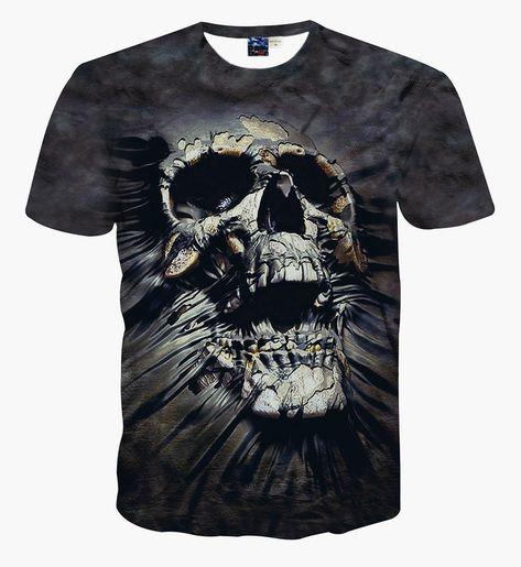 Buy Generic Men's Short Sleeve Creative Graffiti Print Hip Hop Style T-shirt Multicolour at Wish - Shopping Made Fun