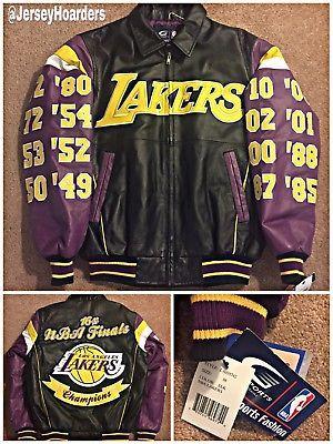 New Vintage Los Angeles Lakers Nba G Iii 16x Championship Leather Jacket M Nwt Los Angeles Lakers Vintage Los Angeles Lakers
