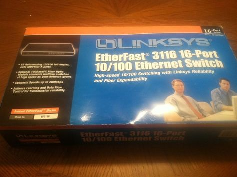 Linksys 16 Port 10/100 Ethernet Switch EtherFast 3116 #Linksys