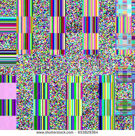 Glitch Psychedelic Background Old Tv Screen Error Digital Pixel Noise Abstract Design Broken Pixels Glitch Television Signal Fa Abstract Psychedelic Old Tv