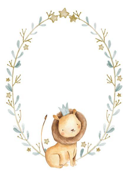 Invitation Baptême de prince bébé de lion d'aquarelle | Zazzle.fr