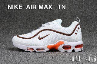Nike Air Max Tn Kpu White Brown Orange Sneakers Men S Running Shoes Nike Ciu012440 Calzado Nike Calzas Nike