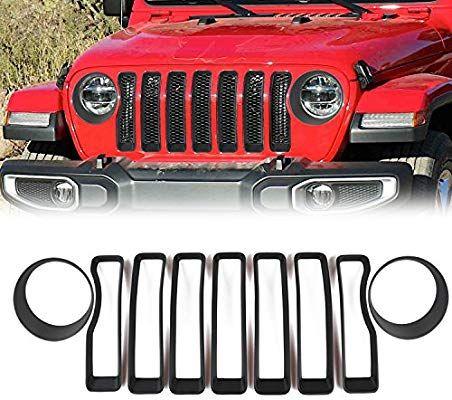 Amazon Com 2018 Jeep Wrangler Jl Mesh Grille Grill Insert Headlight Turn Light Cover Trim Black Automotive Jeep Wrangler Jeep Jeep Wrangler Accessories