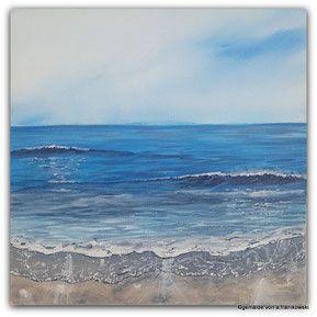 Maritime Landschaftsmalerei In Acryl Gemalde Meer Und Strand 30 X
