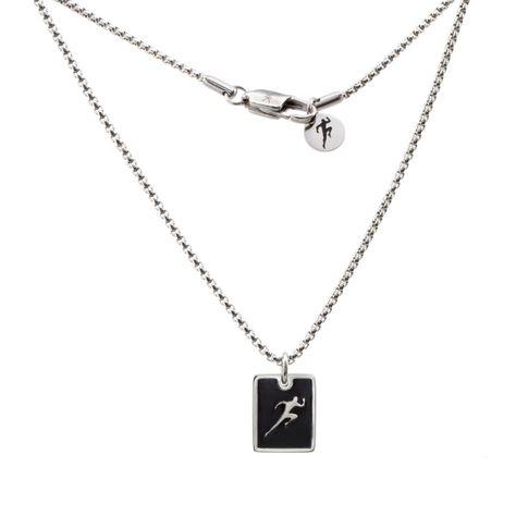 Lo último Para hombres acero de aleación de Cruz Negra Colgante Collar de cadena AA/_12