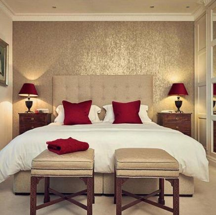 New Wall Paper Modern Texture Master Bedrooms Ideas Romantic Bedroom Colors Master Bedroom Colors Gold Bedroom Decor