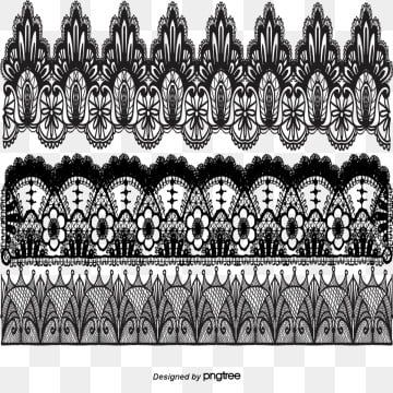 Vector Painted Black Lace Vector Hand Painted Black Png And Vector Black Lace Vector Lace