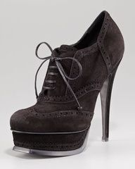 Tribute Lace-Up Suede Bootie, Black by Yves Saint Laurent at Neiman Marcus. Live lusciously with LUSCIOUS: www.myLusciousLife.com