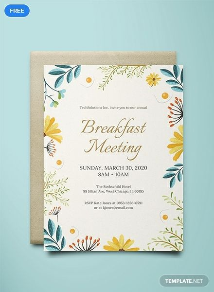 Corporate Breakfast Invitation Template Free Pdf Word Psd Apple Pages Illustrator Publisher Outlook Invitation Template Invitations Rsvp Wedding Cards