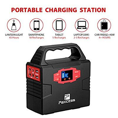 Amazon Com 100 Watt Portable Generator Power Station Cpap Battery Pack Home Camping Emergency Power Su Solar Charger Emergency Power Best Portable Generator