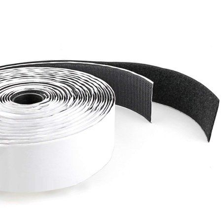 Tape Roll 1 Inch Width Black Velcro Tape With Strong Adhesive For Securing Long Wires Cases Frames Hook Loop Fastener Ho Velcro Tape Strong Adhesive Tape