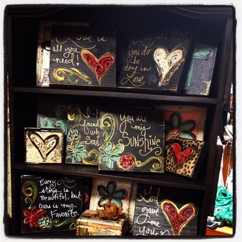 Home decor art by Crosses 4 You - blocks are $15