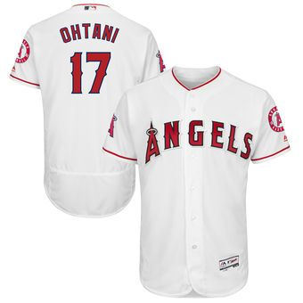 Shohei Ohtani Los Angeles Angels Majestic Flexbase Authentic Collection Player Jersey White Los Angeles Angels Jersey Majestic