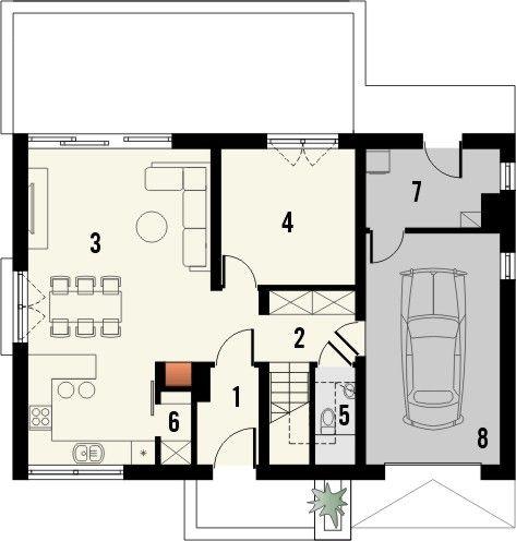 Nowoczesny Projekt Domu Typu Stodola Z Dachem Dwuspadowym Bonus Quattro Domy Floor Plans Garden Art
