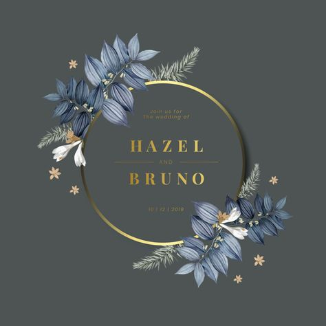 Floral Wedding Invitation Card Design Vector Download