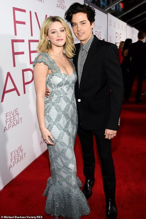 Cole Sprouse and Lili Reinhart only have eyes for each other at the premiere of Five Feet Apart | Daily Mail Online