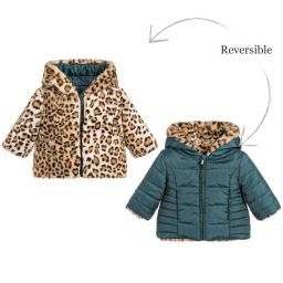 Mayoral Baby Girls Reversible Coat Childrensalon Girl Outfits Baby Snowsuit Reversible Jackets