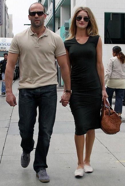 Jason Statham - şehvetli, güzel, şirin, Kız arkadaşı Rosie Huntington-Whiteley