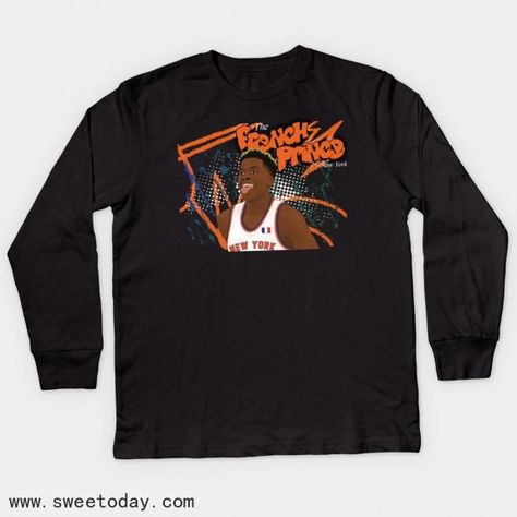 French Prince Of Ny Apparel Frank-ntilikina Youth Long Sleeve Tee Shir