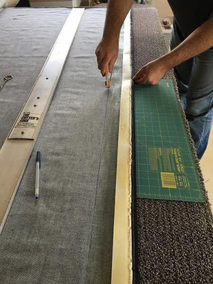 Diy Carpet Remnant Into Area Rug Carpet Remnants Rugs On Carpet Diy Carpet