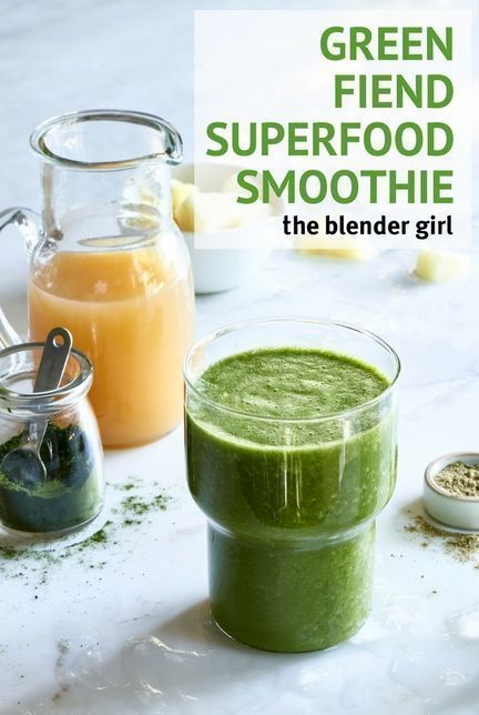 Green Tea Apple And Wheatgrass Smoothie